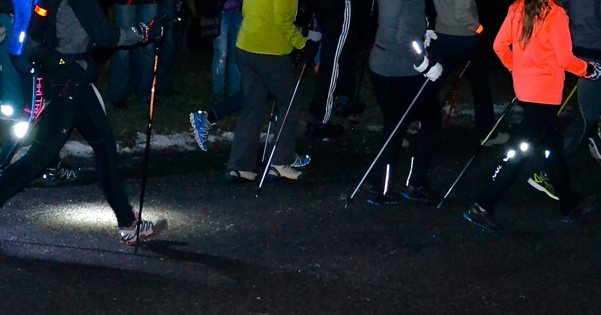 Night Run - Nordic Walking